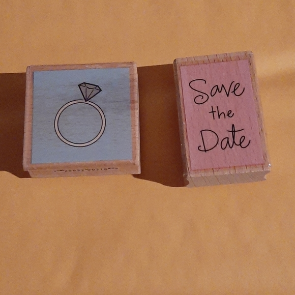 2x wedding themed rubber stamps